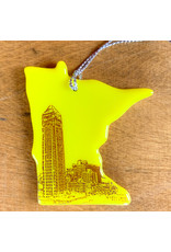 7Two7 Glass MN Glass Ornament