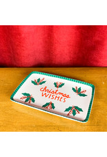 Creative Co-Op Christmas Wishes Serving Dish