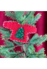Creative Co-Op Wool Felt Sweater Tree