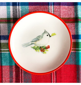 Creative Co-Op Round Blue Jay Dish