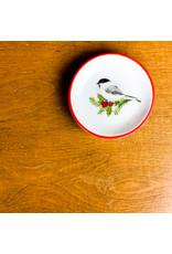 Creative Co-Op Round Chickadee Dish