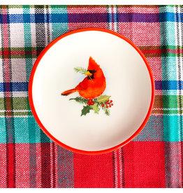 Creative Co-Op Round Cardinal Dish