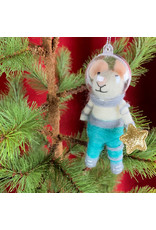 Creative Co-Op Wool Felt Astronaut Mouse