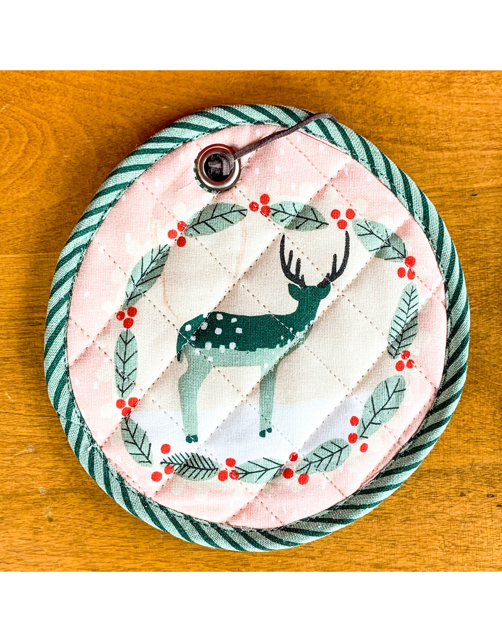 Creative Co-Op Cotton Potholder Merry Christmas