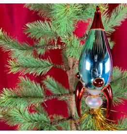 Creative Co-Op Glass Rocket Ornament