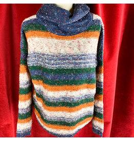 Mystree Green Rust Purple Sweater