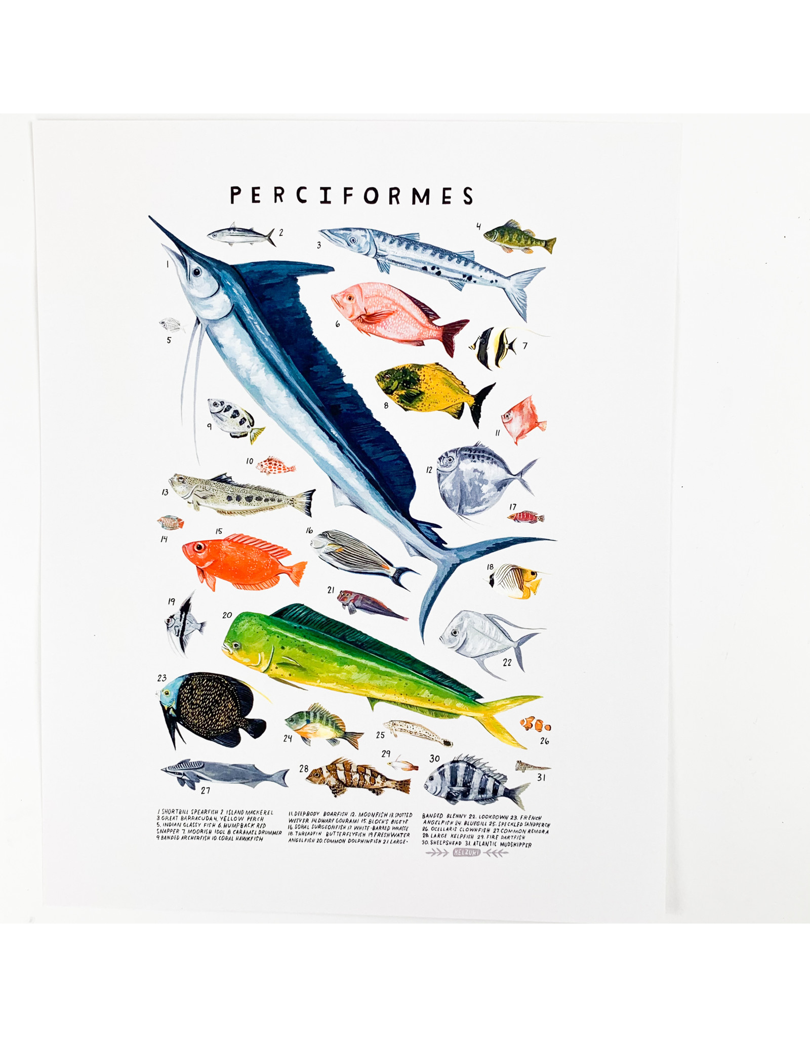 Kelzuki/Consignment Mini Print Consignment - Perciformes