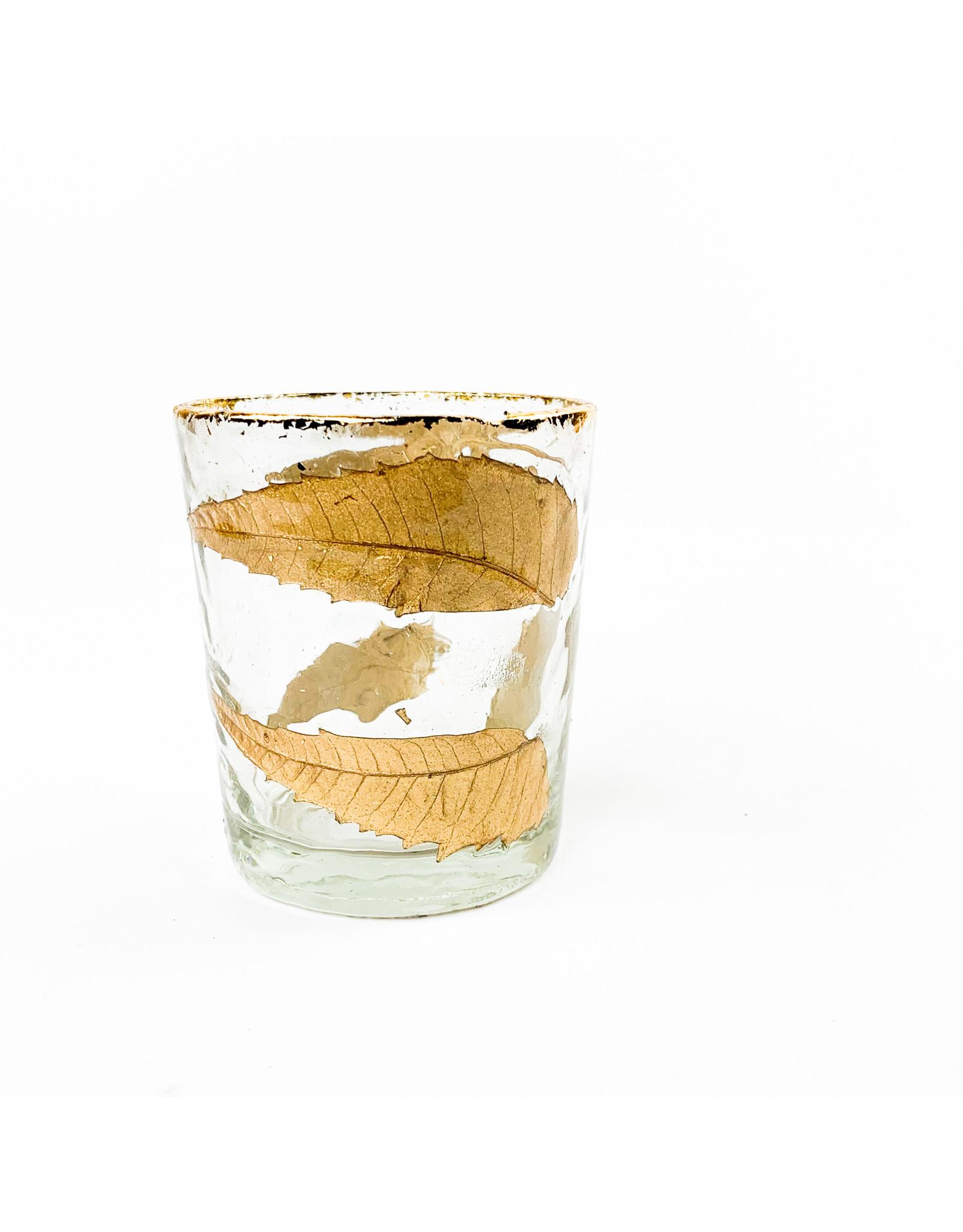 "Creative Co-Op Round Leaf Glass 2"""