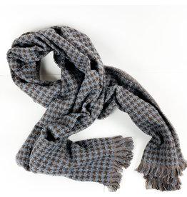 Joy Accessories Houndstooth scarf-Slate