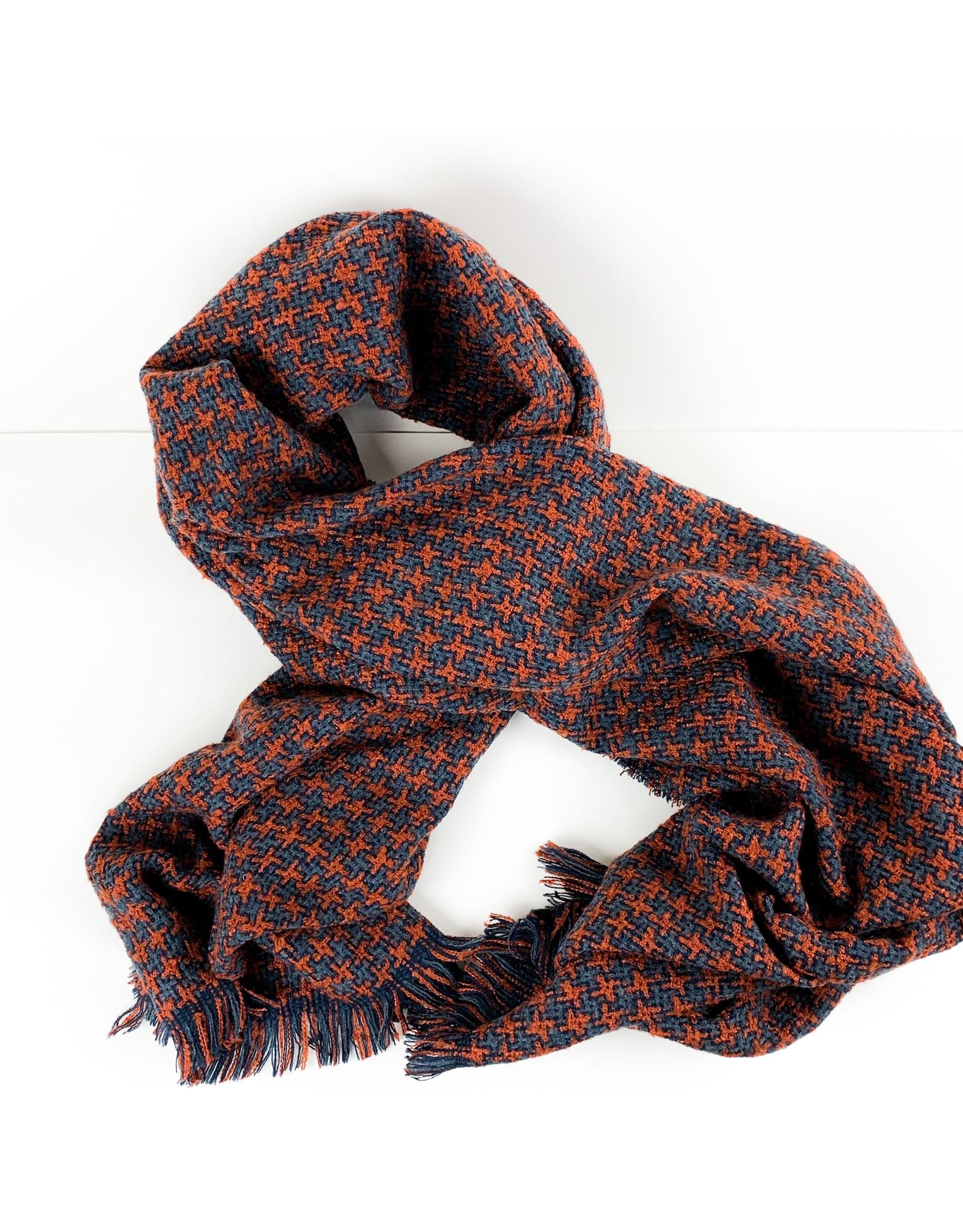 Joy Accessories Houndstooth scarf-Paprika