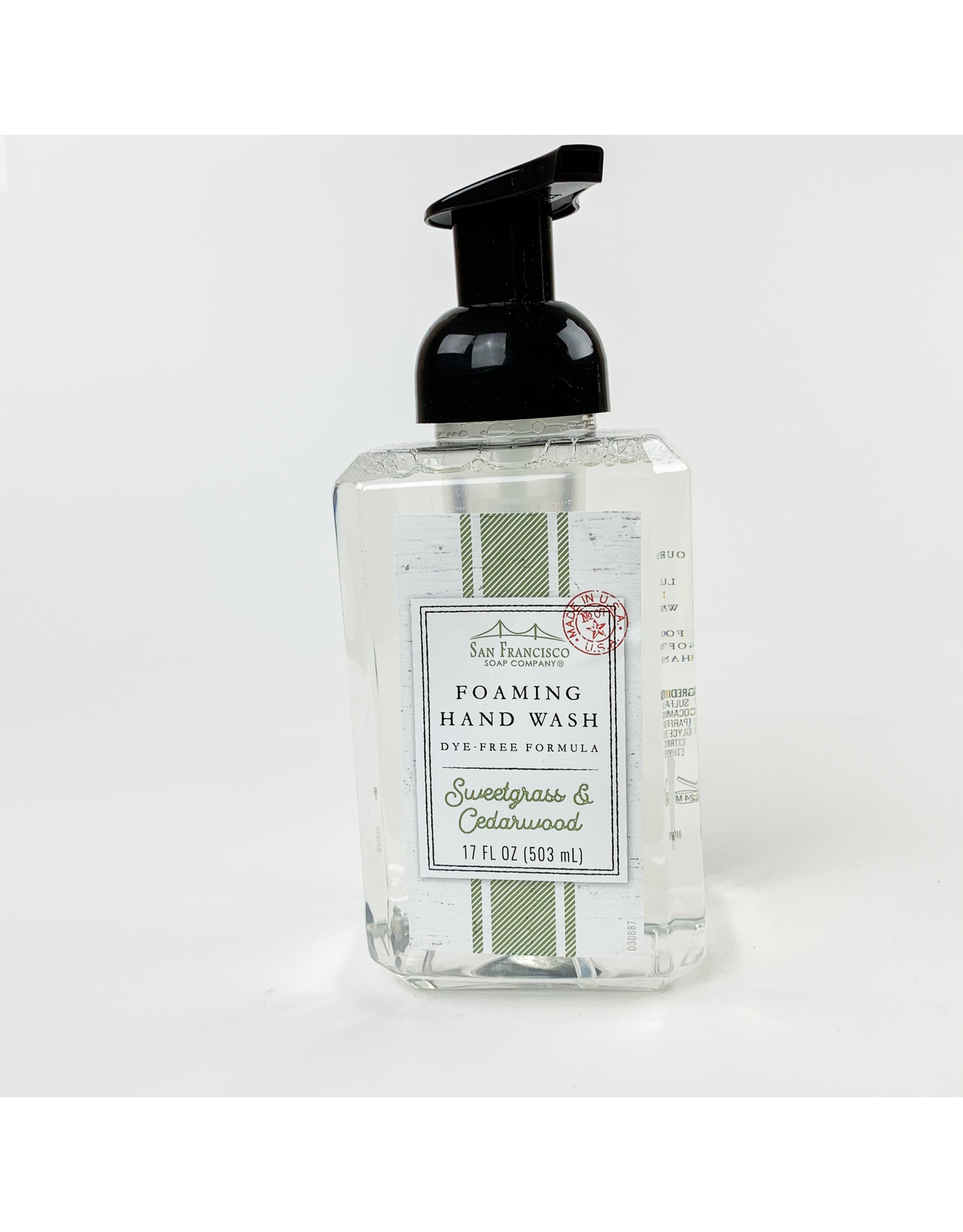 Sweet Grass and Cedar woof Foaming Soap