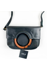 Able Fozi Ring Crossbody - Black and Whiskey