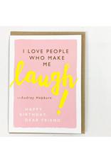 J.Faulkner Quote Laugh/Hepburn