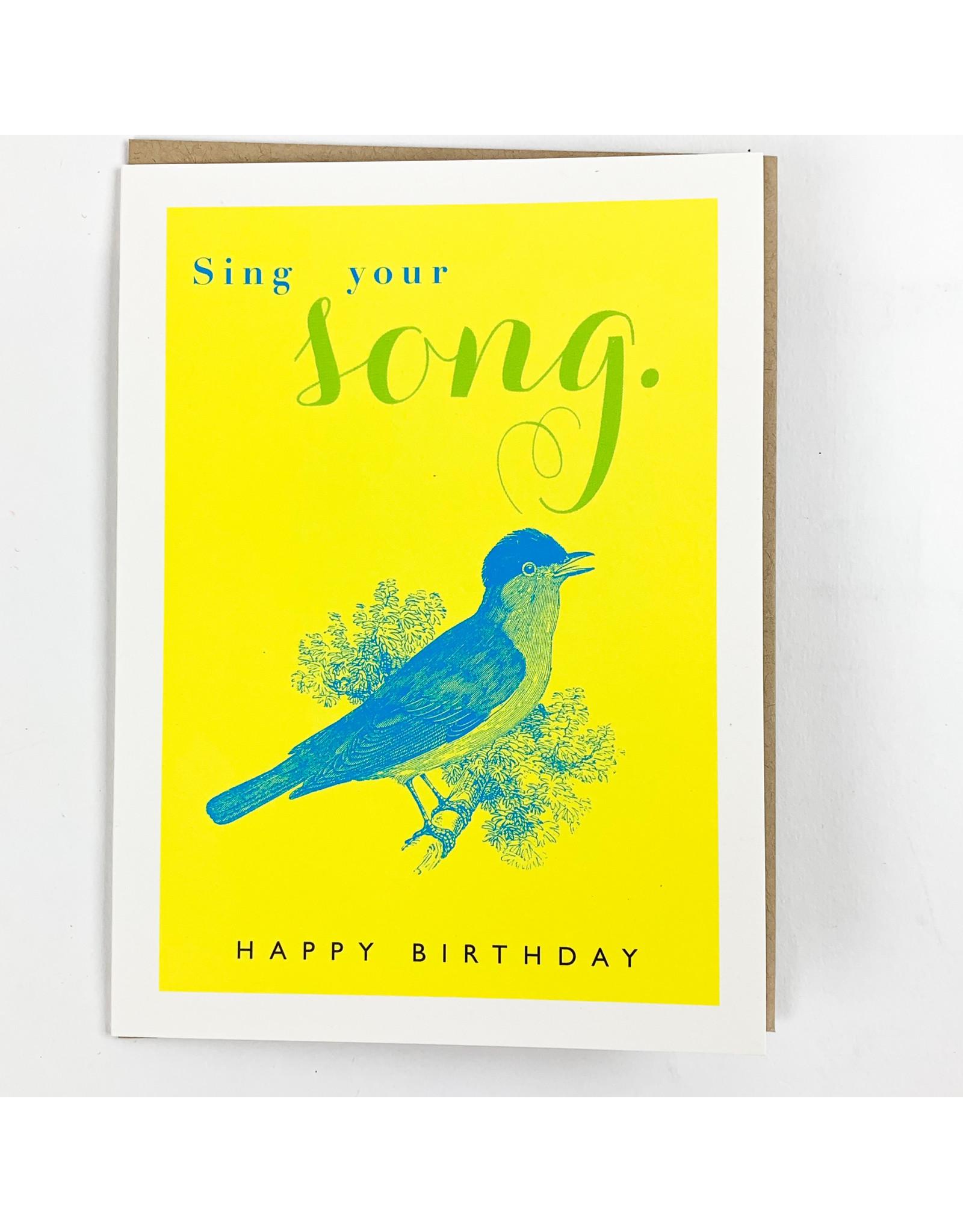 J.Faulkner Birthday Singing Bird