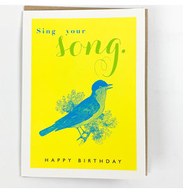 J.Faulkner Birthday Singing Bird