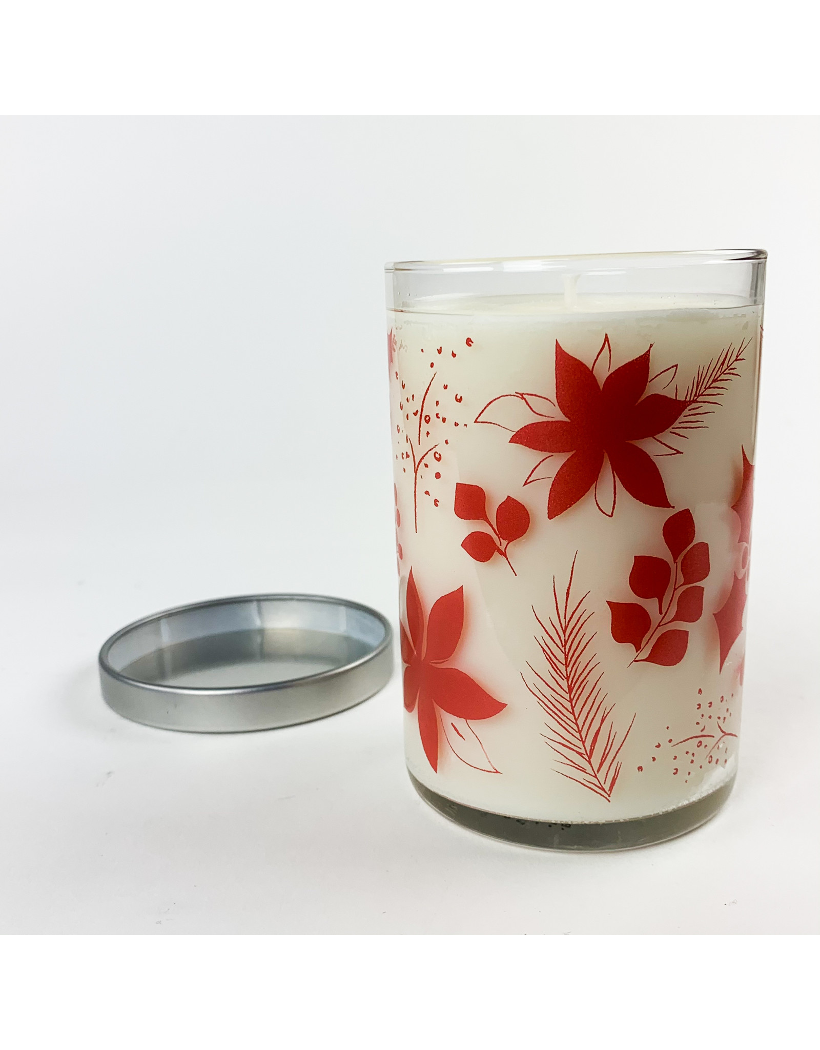 K. Hall Mistletoe screenprinted candle