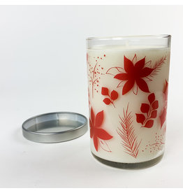 K. Hall Mistletoe screenprinted candle