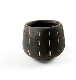 Creative Co-Op Terra Cotta Planter - Grey Lined