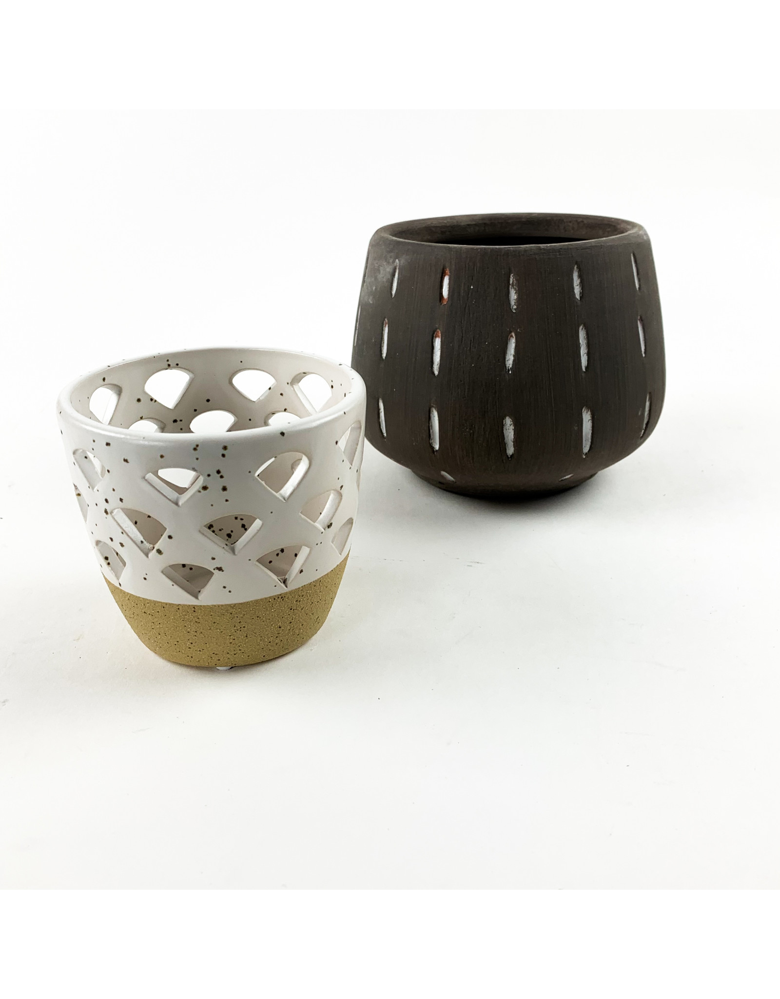 Creative Co-Op Round Stoneware Tealight Votive