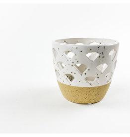 Creative Co-Op Round Stoneware Tealight Votive