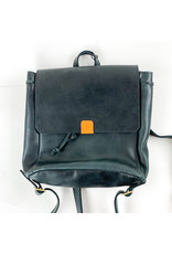 Able Kene Backpack Black and Cognac