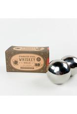 Kikkerland Stainless Steel Whiskey Balls S/2