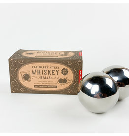 Kikkerland Stainless Steel Whiskey Balls S/2