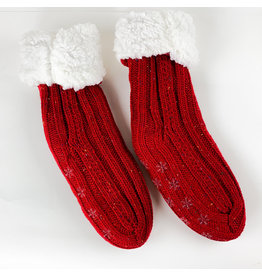 Mer Sea Slipper socks- Red