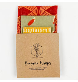 Goldenrod Goods Beeswax Wrap 3 Pack - Warm Colors