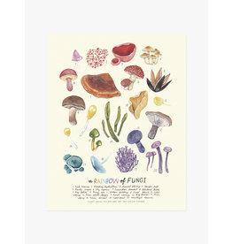 Kelzuki/Consignment Rainbow Fungi Print-consignment