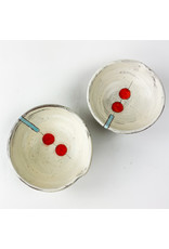 Tiny Town Pottery-consignment Bowls Red Dots