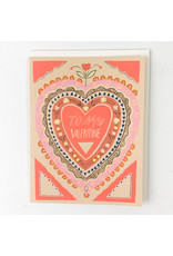 Red Cap Cards To My Valentine