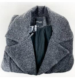 C'est Moi Heather Black Wool Coat
