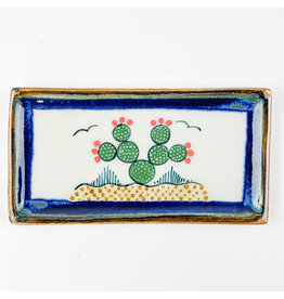 Tesoros Med Rectangle Dish Cactus