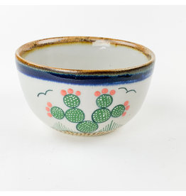 Tesoros Small Pottery Bowl Nopal Mexico