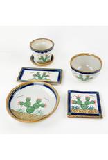 Tesoros Small Pottery Bowl Nopal Mexico