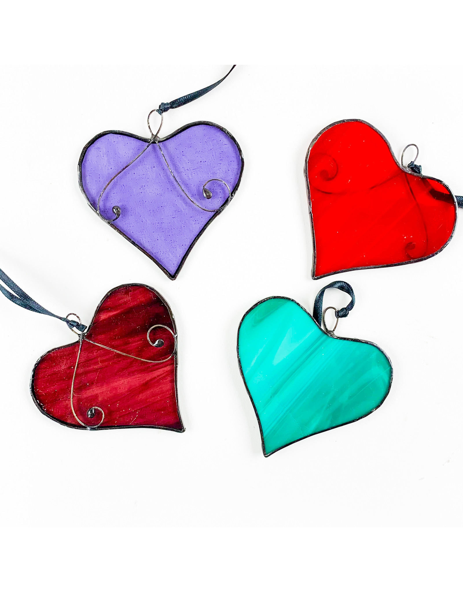 Glass Heart - assorted colors
