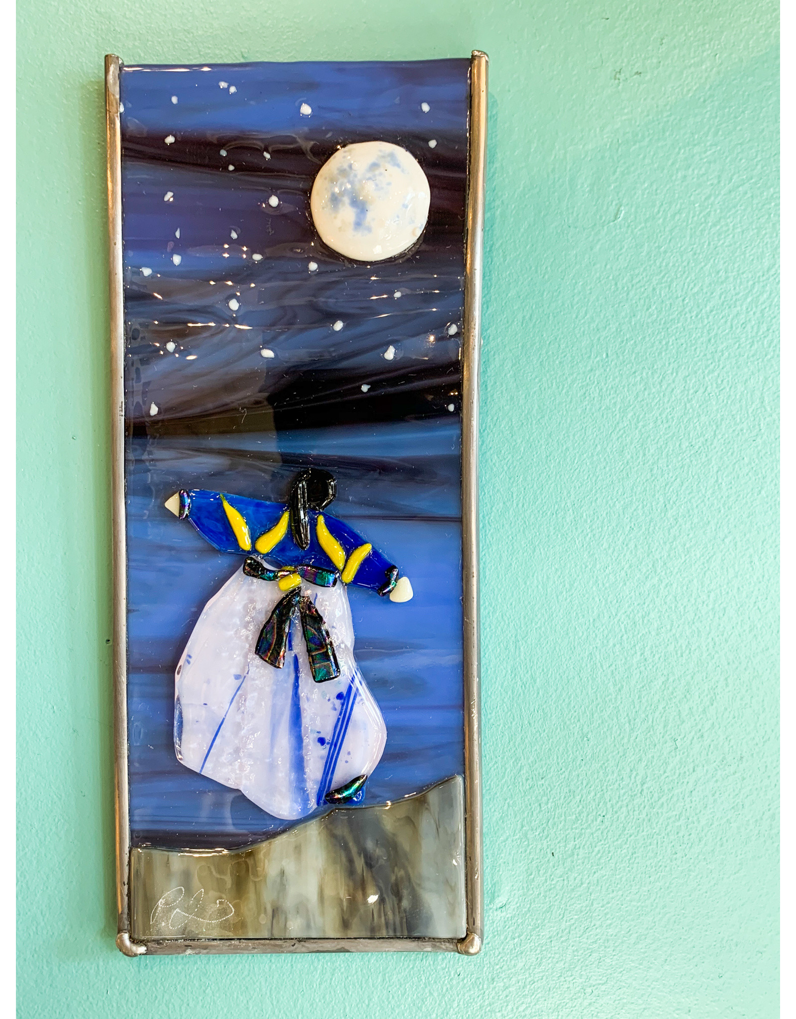 Peter Lewis-Consignment Moon Fused Glass Consignment 211