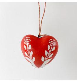 Tesoros Painted Pottery Heart Hanging