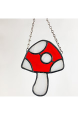 Reverberation Stained Glass - Consignment Mushroom Red White Consignment