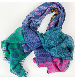Joy Accessories Patch tassel scarf-jewel