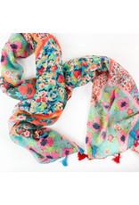 Joy Accessories Patch tassel scarf-Boho