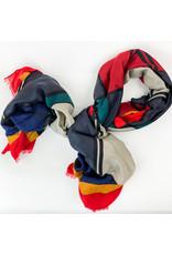 Joy Accessories Argyle scarf-red