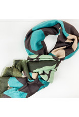 Joy Accessories Geometric scarf turquoise
