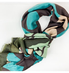 Joy Accessories Geometric scarf turquoise