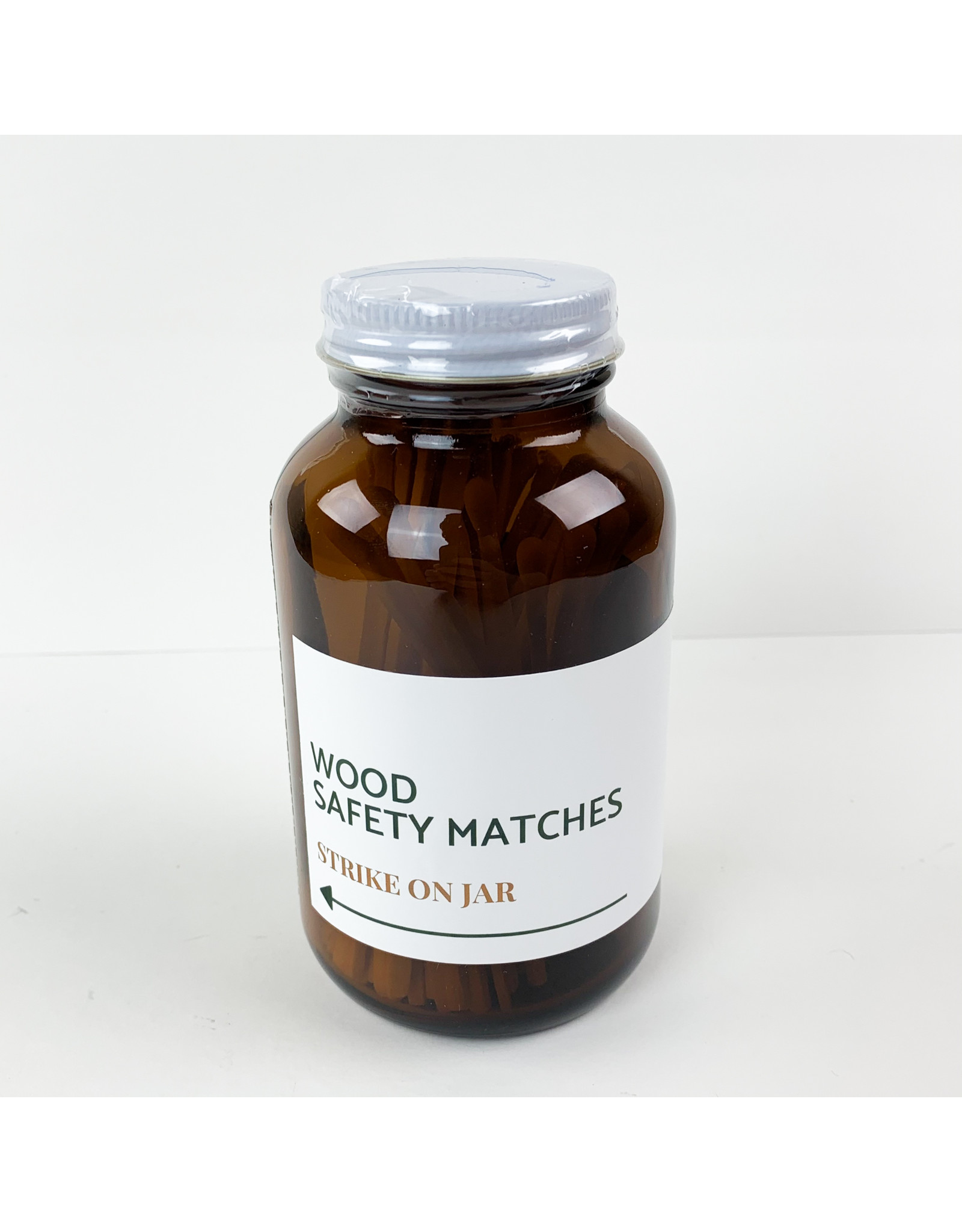 Modern Makers Home and Bath Wood Safety Match Jar