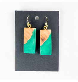 PM Design - Consignment Hooks Green Rectangles Consignment