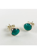 Camille Hempel Jewelry-Consignment CHE27 Turquoise Stud Pair