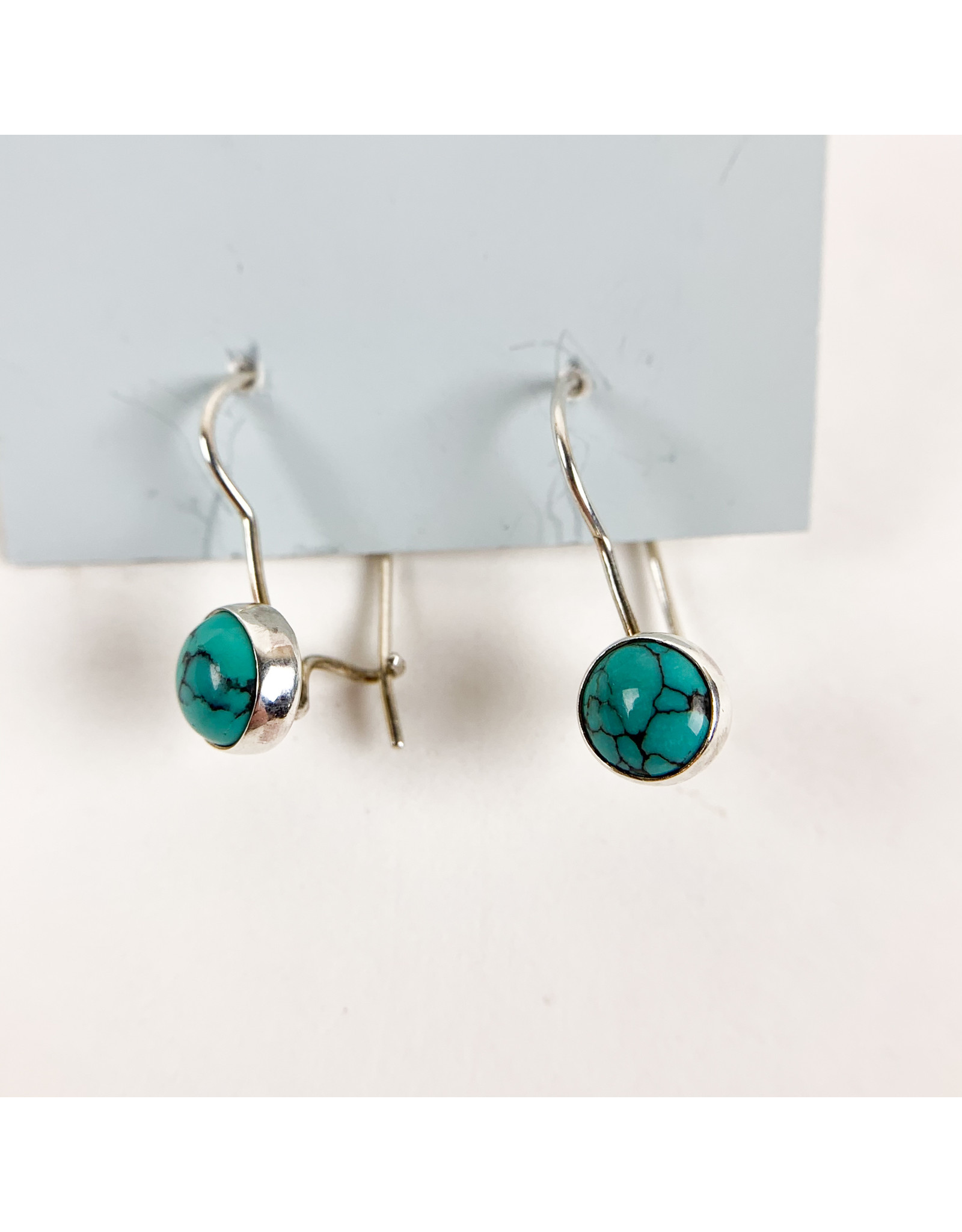 Camille Hempel Jewelry-Consignment CHE26 Turquoise Earrings French Hooks