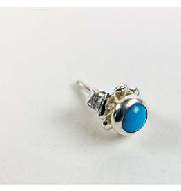 Camille Hempel Jewelry-Consignment CHSS6 Single Stud Turquoise